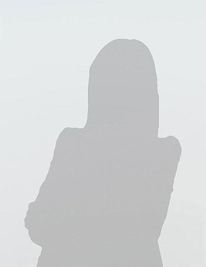 Umriss weibliche Person